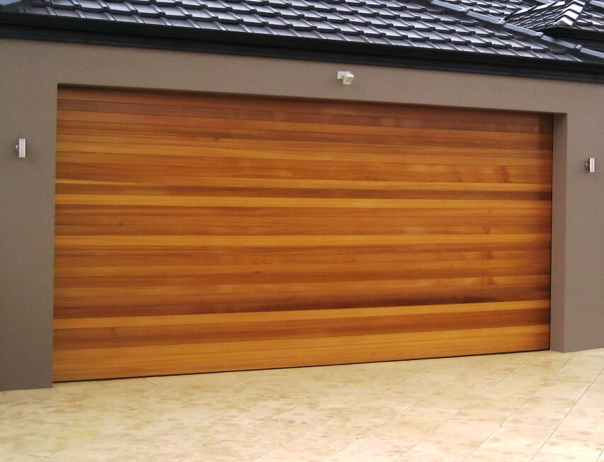 Cedar Sectional Garage Doors
